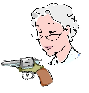 The White haired Shooter